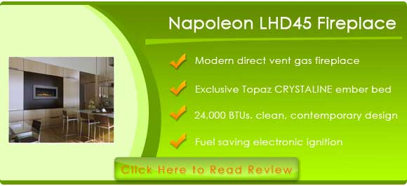 Napoleon LHD45 Modern Direct Vent Gas Fireplace